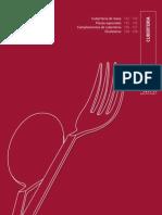 Cubertería. Catálogo Profesional de Hostelería 09/10. Grupo CRISOL