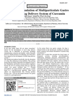 A Study on Formulation of Multiparticulate Gastro Retentive Drug Delivery System of Curcumin