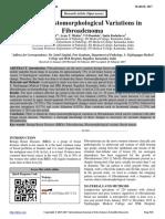 Clinico- Histomorphological Variations in Fibroadenoma