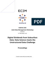 CDA ECIM DM Workshop Unstructured Data Challenge November 2016 Proceedings