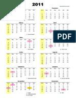 Calendário Permanente Excel