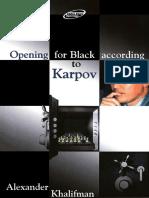 Khalifman Alexander-Opening for Black According to Karpov Book 1.pdf