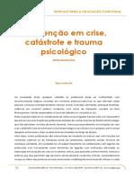 Conteudos Especializacao Intervencao Em Crise Catastrofe e Trauma Psicologico