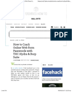 Crack Online Passwords with HYDRA