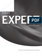 First Expert Answer Key