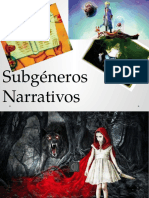 ppt Subgéneros Narrativos