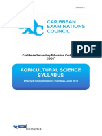 CSEC Agricultural Science Syllabus