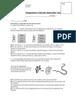 Prueba de Diagnóstico Ciencias Naturales 7mo