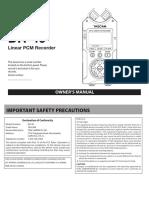 Tascam DR40 Manual