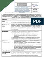 Resumen convocatoria Organización de congresos y eventos de carácter científico 2009