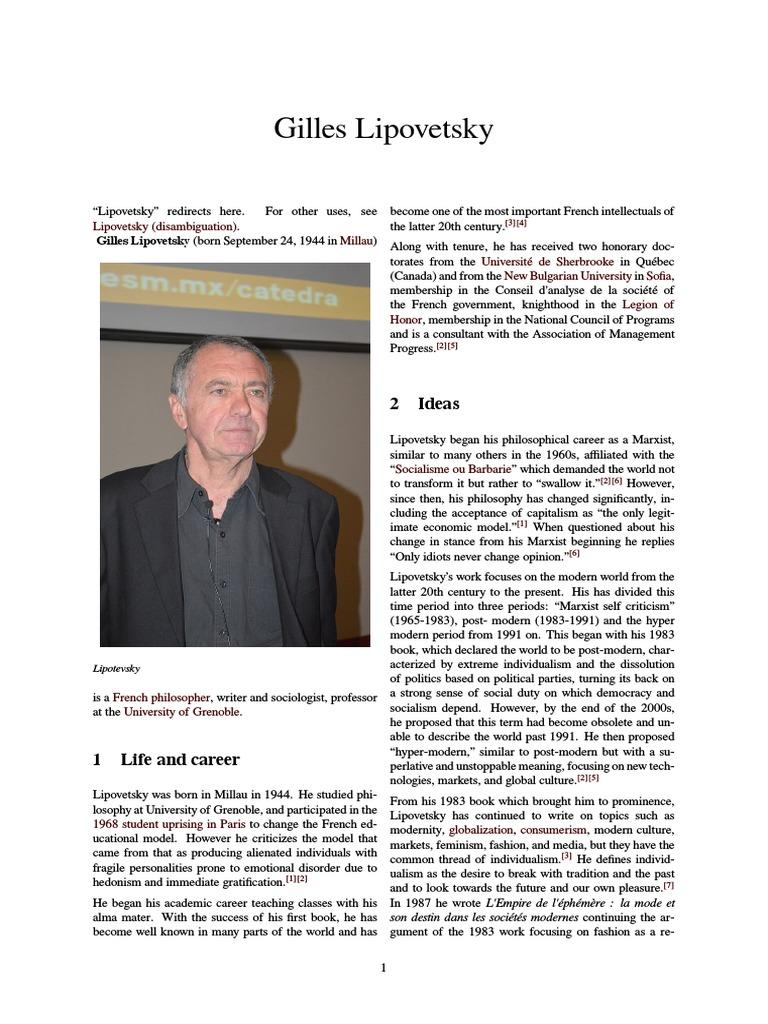 Hypermodern Times Gilles Lipovetsky Pdf