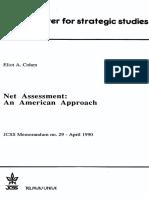 Net Assessment an American Approach Cohen