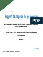 Rapport de Stage de Fin de Formation Ministère de l'Economie Et Des Finances