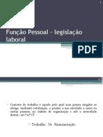 Função Pessoal – Legislação Laboral