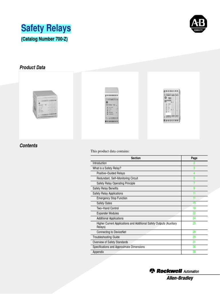 Safety Relay Wiring Diagram In Addition Pilz 700 Td556 En P Switch Rh Es Scribd Com
