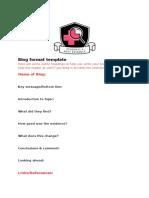 Blog Format Template