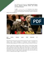 Judi Online Sabung Ayam CF88 Bolavada Di Myanmar