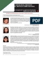 Estudio Gestión de Datos en El Negocio Audiovisual