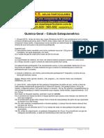 Quimica Geral Calculo Estequiometrico