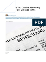 Here's Why You Can Be Absolutely Sure That Paul Believed in the Eucharist