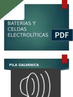 Bateria y celdas electrolíticas