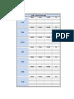 Planilla de Excel Para El Control de Alimentacion Semanal