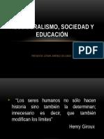Neoliberalismo, Sociedad y Educación, Presentacion de  Cesar Jimenez Delgado