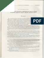 Administration Territoriale Et Organisation de l'Espace en Egypte Au 3e Millénaire AvJC Partie 2