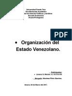 Ensayo - Organización Del Estado Venezolano