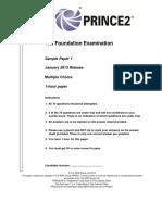 PRINCE2 Foundation Sample Paper-IncludingSample1