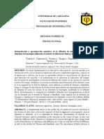 Proyecto Final de Metodos Numericos.