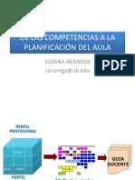 De Las Competencias a La Planificación Del Aula
