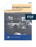 Village Corruption in Indonesia