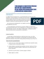 Alternativas de Juegos y Ejercicios Físicos Para El Trabajo de Las Capacidades Coordinativas en Niños de Preescolar