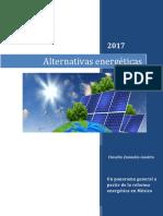 ALTERNATIVAS PARA EL SECTOR ENERGETICO EN MÉXICO