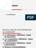 5 Derivation Suffixation