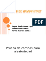 Prueba u de Mann-whitney