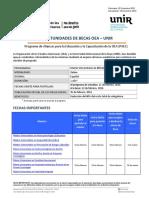 Convocatoria OEA UNIR 2015 Master