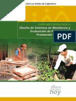 Guía Metodológica Diseño de Sistemas de Monitoreo y Evaluación de Proyectos de Promoción Empresarial