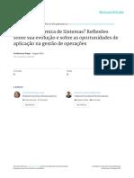 Artigo Científico - Dinâmica de Sistemas