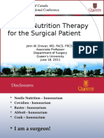 DOC Enteral Nutrition Therapy for the Surgical Patient