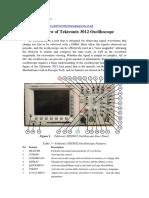 Overview of Tektronix3012 Oscilloscope
