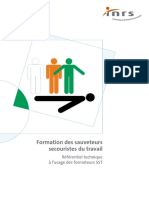 Referentiel Formation a l Usage Des Formateurs SST 7000