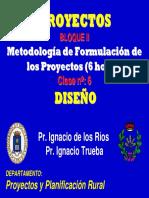 11.Metodología de La Formualcion de Los Proyectos Diseno
