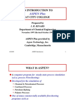 An Introduction to Aspen Plus at City College