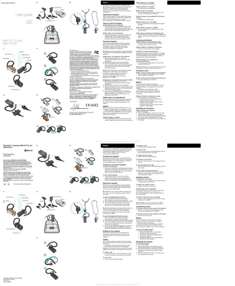 HBH-PV720 MANUAL PDF