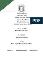 Plan de Negocios Para Exportación de Mezcal Don Porfirio