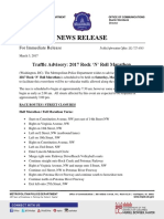 Traffic Advisory Rock and Roll Marathon 2017 03 03