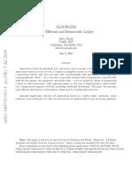 MIT Cryptographer Silvio Micali - ALGORAND - The Efficient and Democratic Ledger