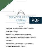 SERVIDORES PRIVADOS VIRTUALES